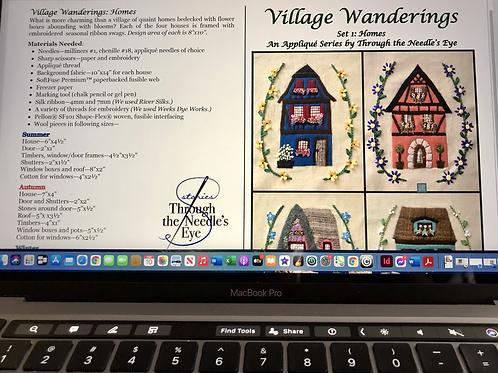Village Wanderings—Homes: Digital Pattern