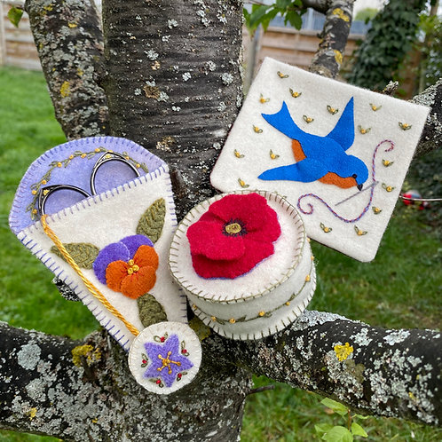 Wool Kit: Hopeful Bluebird Sewing Smalls