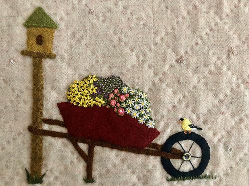 Wheelbarrow of Flowers: In the Garden Series (Hard copy with ribbon)