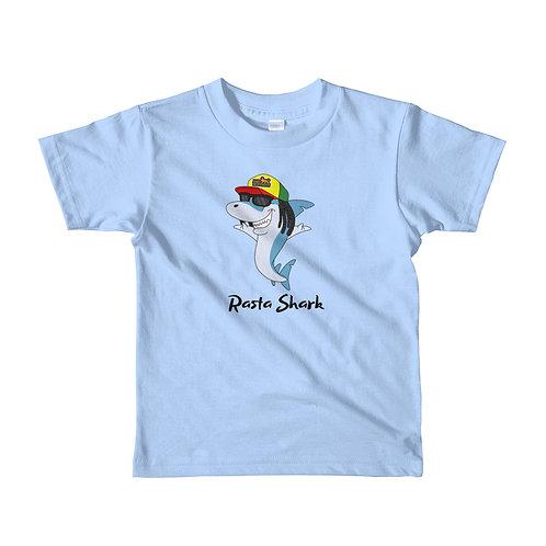 Rasta Shark Short Sleeve Kids T-Shirt (2yrs-6yrs)