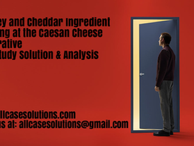 Whiskey and Cheddar Ingredient Branding at the Caesan Cheese Cooperative Harvard Case Study Solution