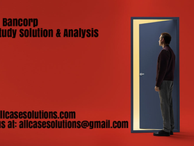 Athena Bancorp Harvard Case Study Solution & Online Case Analysis
