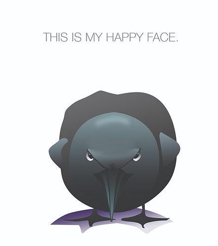 Crow's Happy Face. (Single Card)