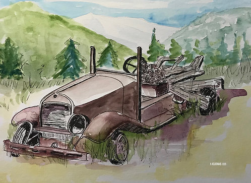 Abandoned Truck in Pingree Park (Set of 4)