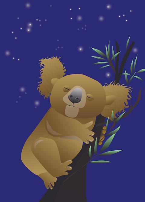Sleepy Koala Bear (Single Card)