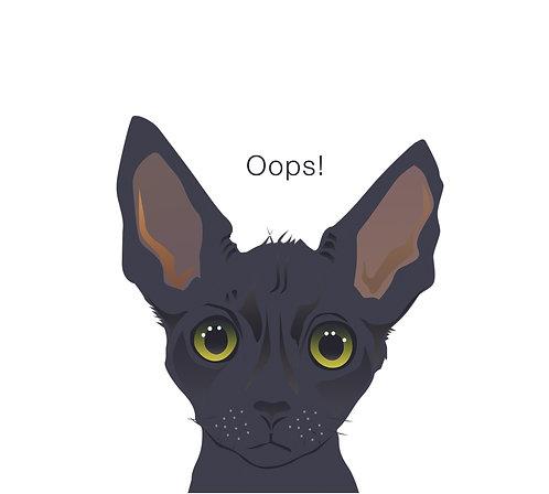 Forgetful Cat (Single Card)