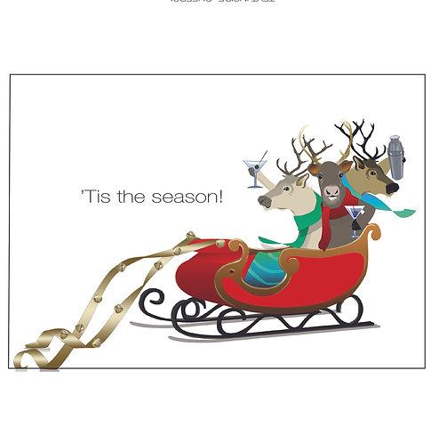 'Tis the Season Reindeers (Single Card)