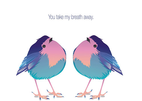Happy Birds (Single Card)
