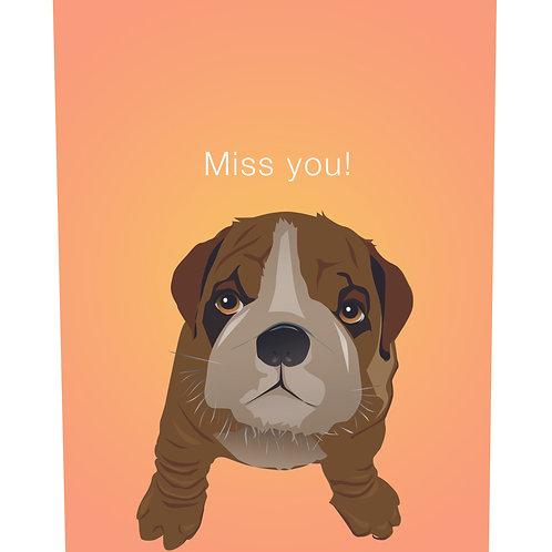 Bulldog Puppy (Single Card)