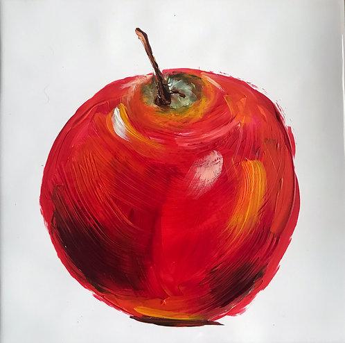 Bright Red Apple