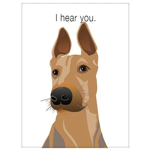 I Hear You Dog (Single Card)
