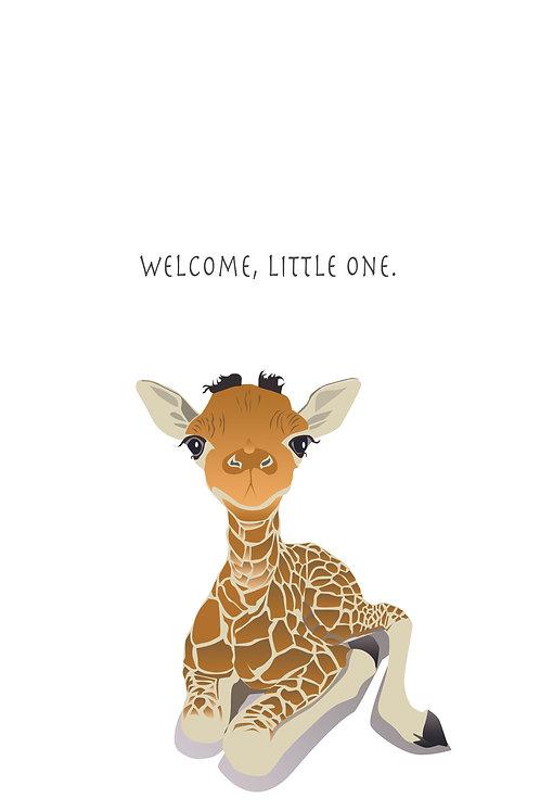 Welcome, Little One - Baby Giraffe (Single Card)