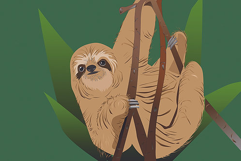 Sloth. (Single Card)