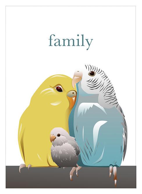 Parrot Family (Set of 4)