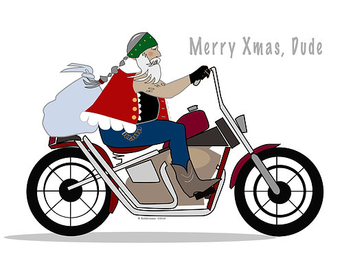 Merry Christmas, Dude (Set of 4)