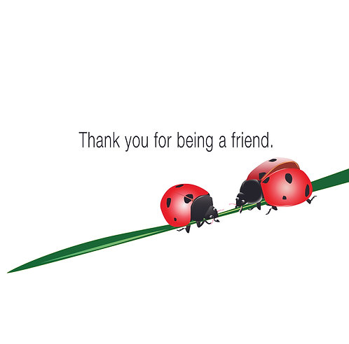 Thank you for being a friend. (Single Card)