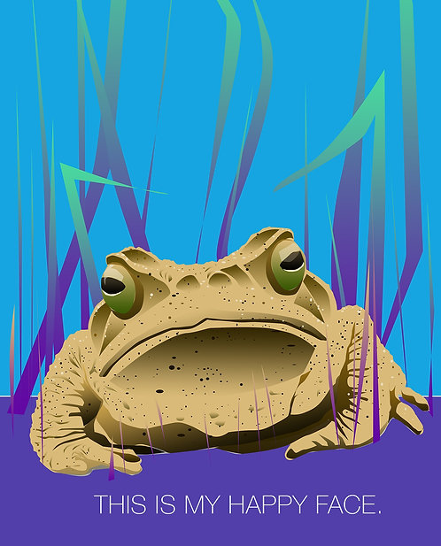 This is my happy face (frog). (Single Card)