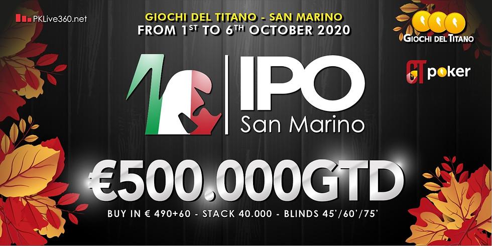 IPO SAN MARINO Ottobre 2020