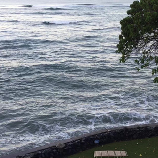 Ocean lapping on the Seawall