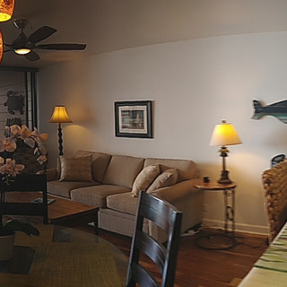 180 degree View of the Front Room and Kitchen