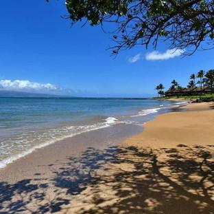 The sandy beach next door.