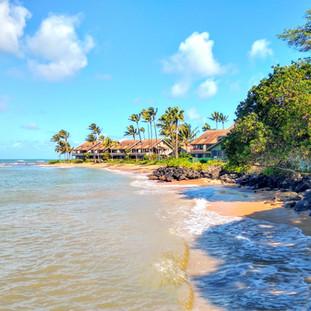 The private beach nextdoor.