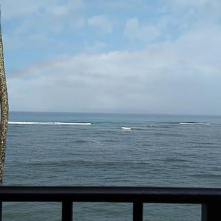 Rainbow from the lanai.