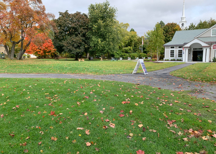Lawn outside Visitors Center