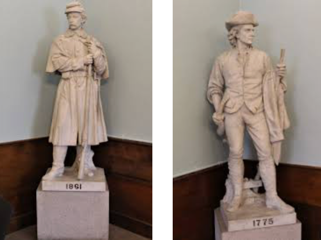 Sculptures inside Cary Memorial Building