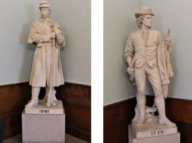 Sculptures inside Cary Memorial Building