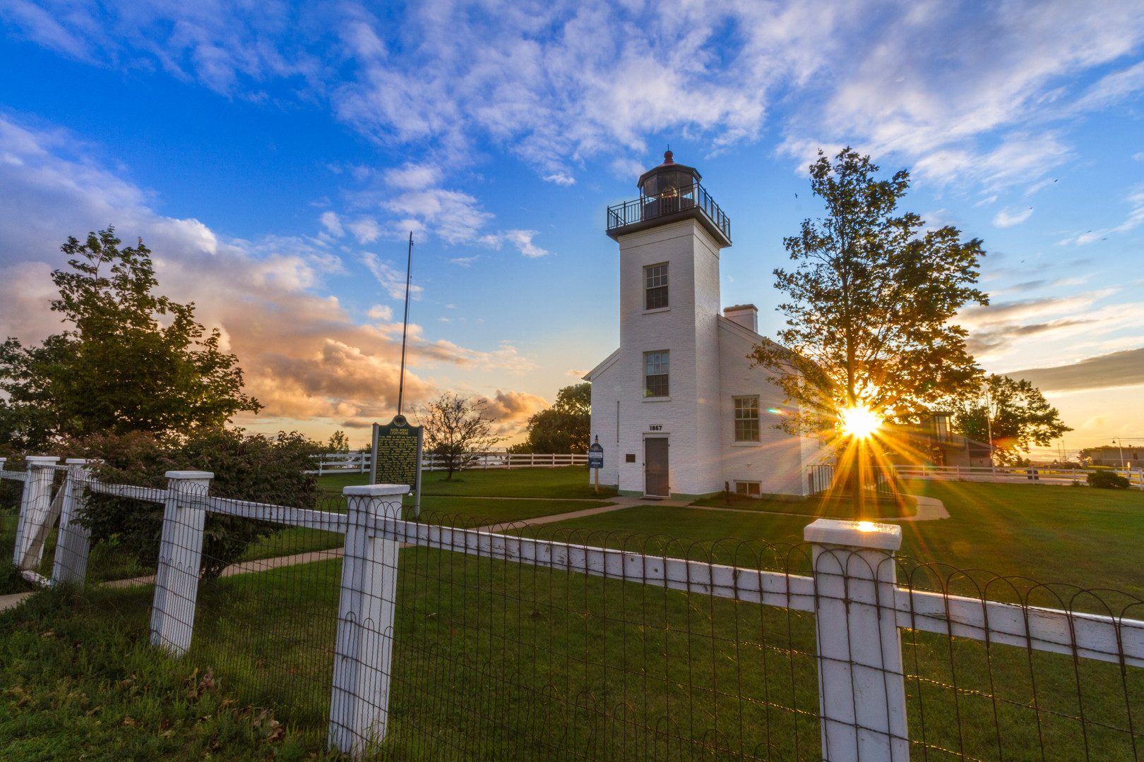 Sand Point Lighthouse in Summer