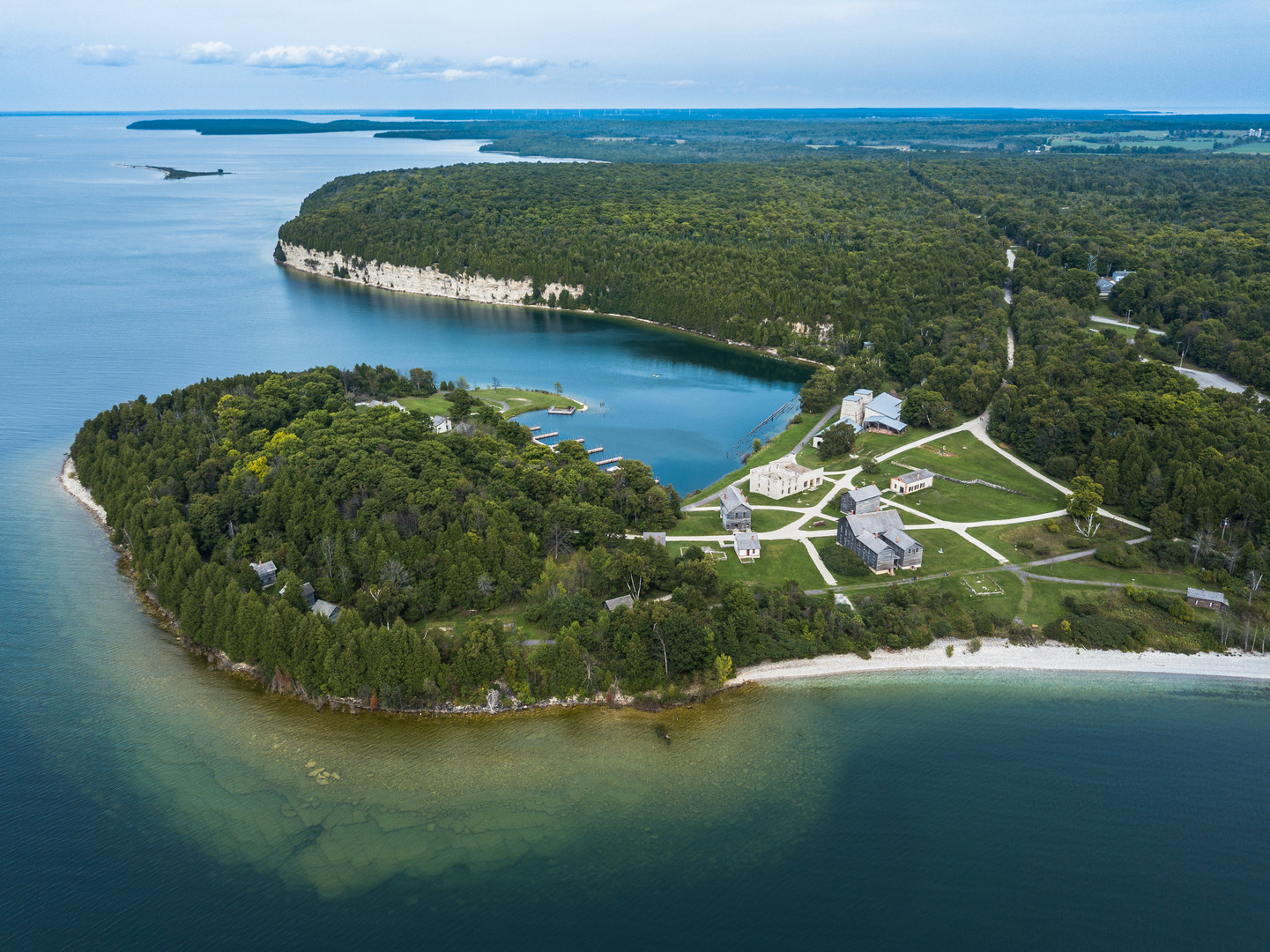Aerial View of Fayette Historic State Park
