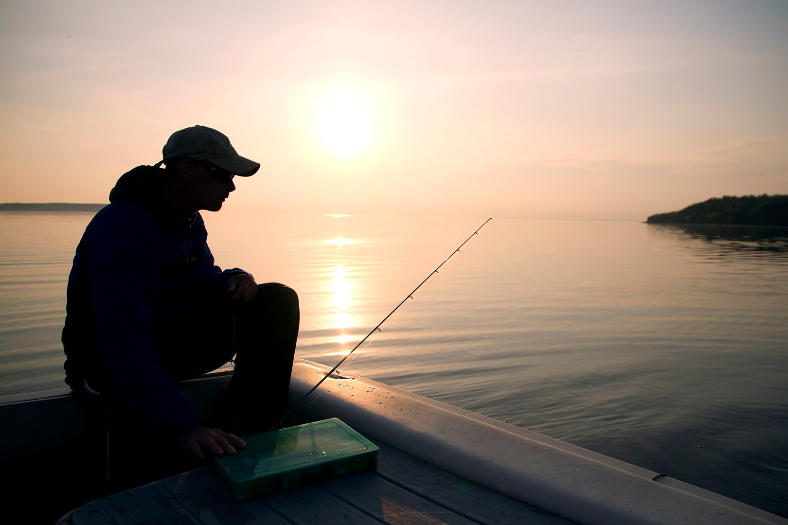 Fishing the Bay at Sunset