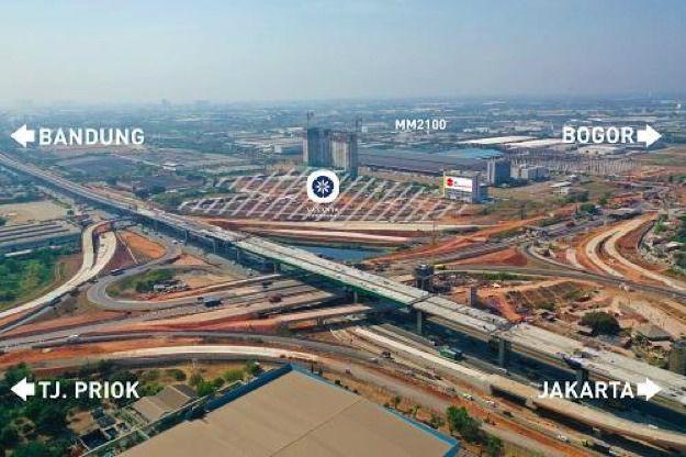 Lokasi Sangat Strategis Diapit Oleh Berbagai Ruas Toll dan Berada Tepat di Interchange Toll JORR II