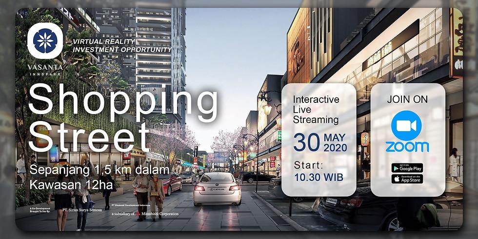 Shopping Street Sepanjang 1,5km dalam kawasan 12ha