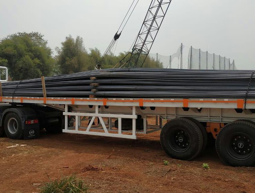 Material besi, bertahap masuk, sudah 220 ton (28 Agustus 2018)
