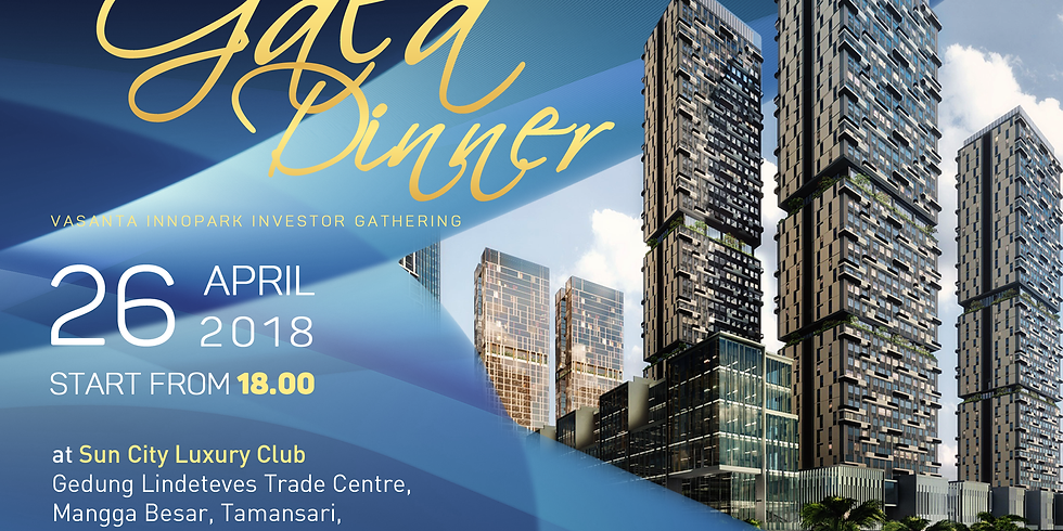 Exclusive Grand Gala Dinner 26 April 2018