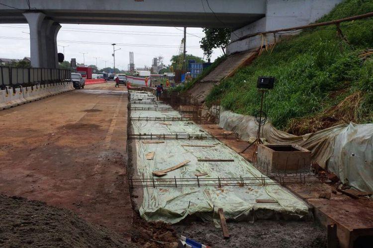 Pekerjaan konstruksi Tol Jakarta Cikampek elevated.(Jasa Marga)