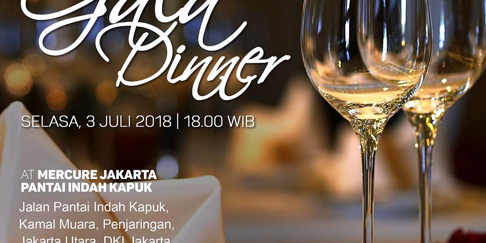 Gala Dinner at Mercure Jakarta Pantai Indah Kapuk, Jakarta, 3 Juli 2018