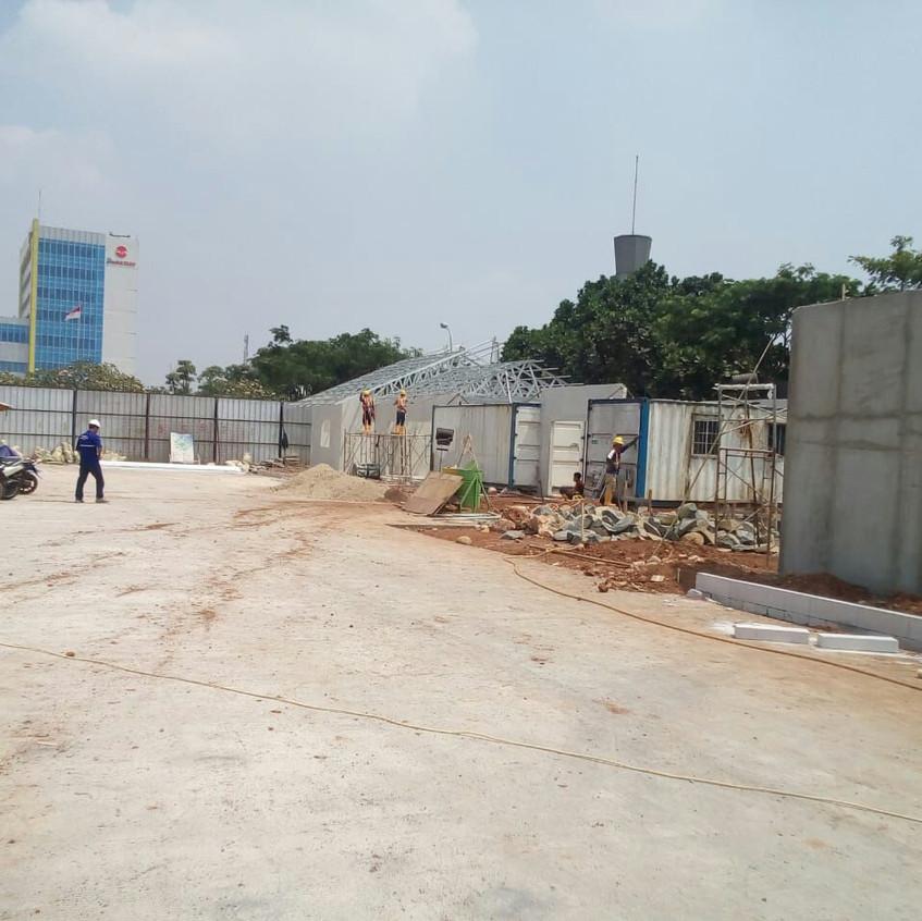 Pembangunan site office main contractor 4 (28 Agustus 2018)