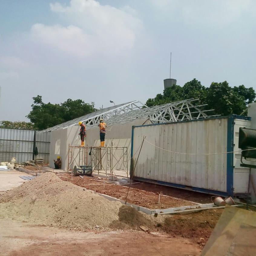 Pembangunan site office main contractor 2 (28 Agustus 2018)
