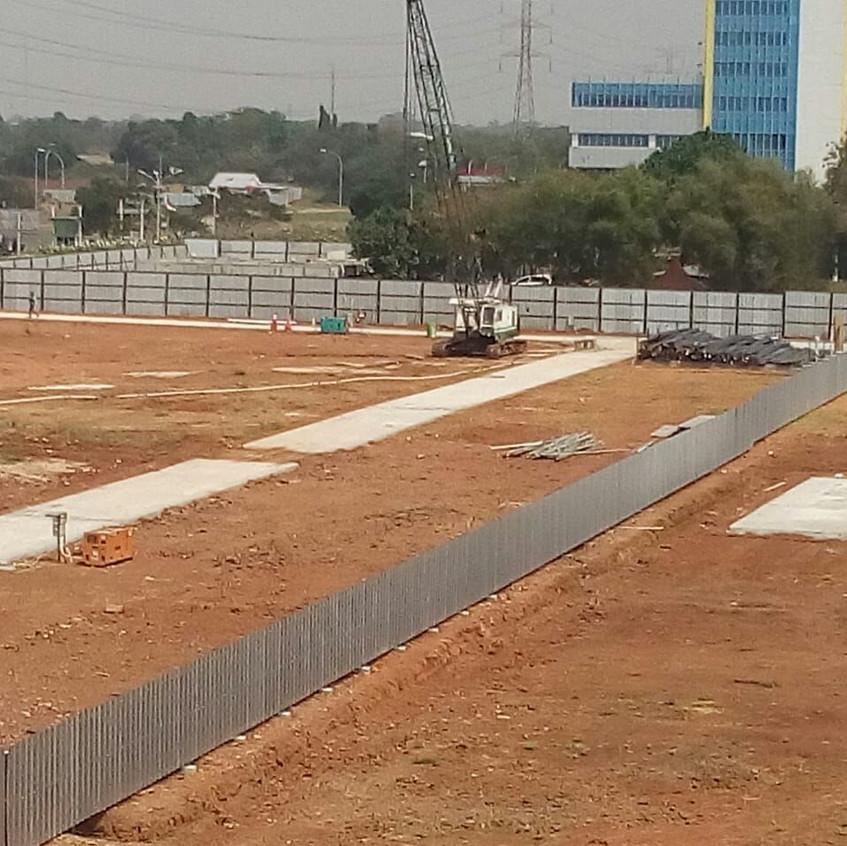 Stake Out Area, direncanakan mulai 10 September 2018, Start Pilling (28 Agustus 2018)