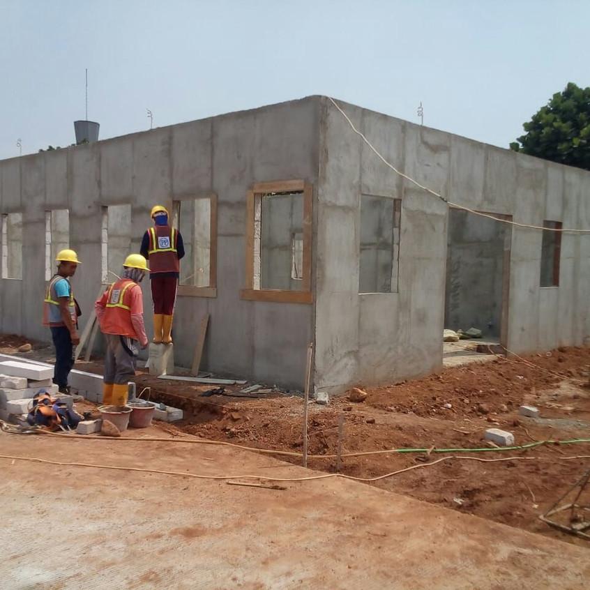 Pembangunan site office main contractor 5 (28 Agustus 2018)