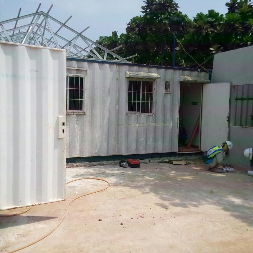 Pembangunan site office main contractor 6 (28 Agustus 2018)