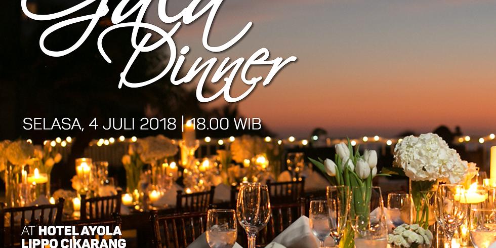 Gala Dinner at Hotel AYOLA Lippo Cikarang, Cikarang, 4 Juli 2018