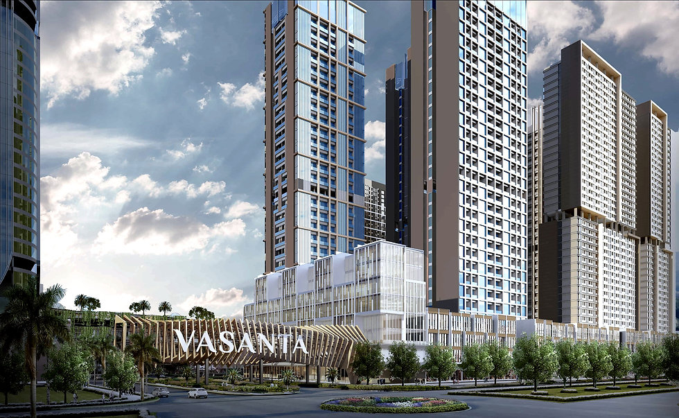 Kawasan Apartemen Vasanta Innopark di Cikarang Bekasi