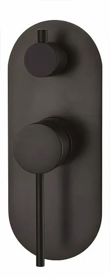 INSPIRE ROUL WALL DIVERTER MIXER GUN METAL