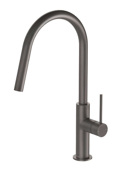PHOENIX VIVID SLIMLINE PULL OUT SINK MIXER GUN METAL