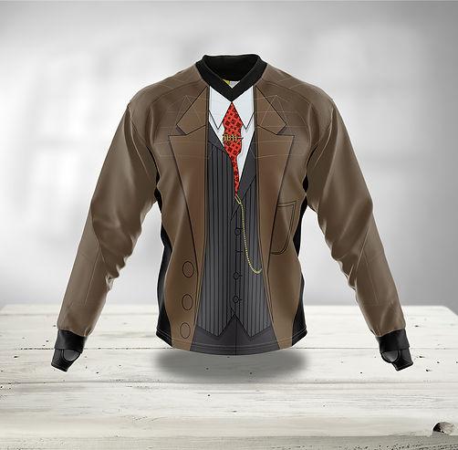 Paintball jersey Anzug mit Sakko/Jaceke, Wese, Krawatte und goldener Taschenuhr