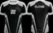 Schwarzes eSports Jersey mit grauem Zackenmuster für den Esport